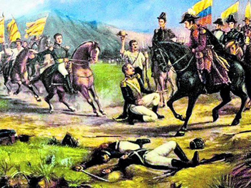Celebrations in Colombia for the Battle of Boyacá.