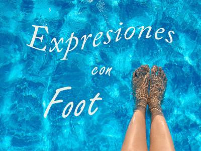 Expresiones con la palabra foot